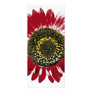 Dark Red Sunflower Rack Card