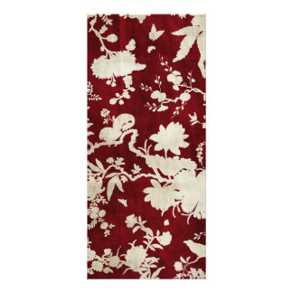 dark red tree with birds branches custom rack cards