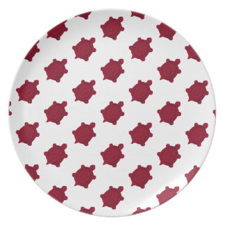 Dark Red Turtles Plate