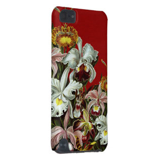 Dark Red Vintage Flower Garden iPod Touch (5th Generation) Covers