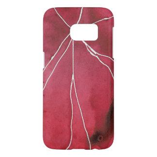 Dark Red Watercolour Marble Break