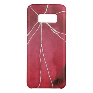 Dark Red Watercolour Marble Break Case-Mate Samsung Galaxy S8 Case