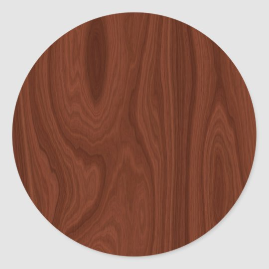 Dark Red Wood Texture Classic Round Sticker