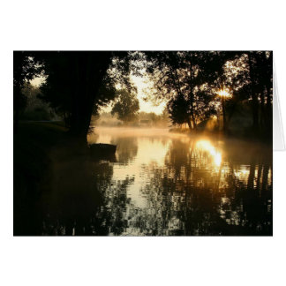 Dark River Glade Pagan Sympathy Card