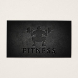 Dark Rock Carving Squat Personal Trainer Fitness Business Card