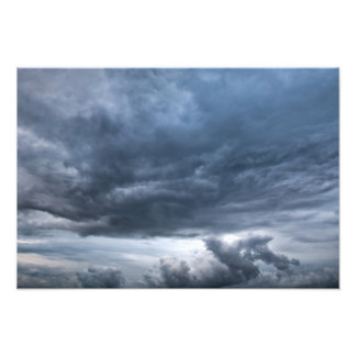 Dark rolling clouds photograph