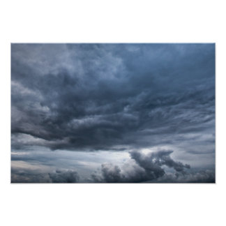 Dark rolling clouds poster