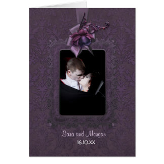 Dark Romance Wedding Invitation