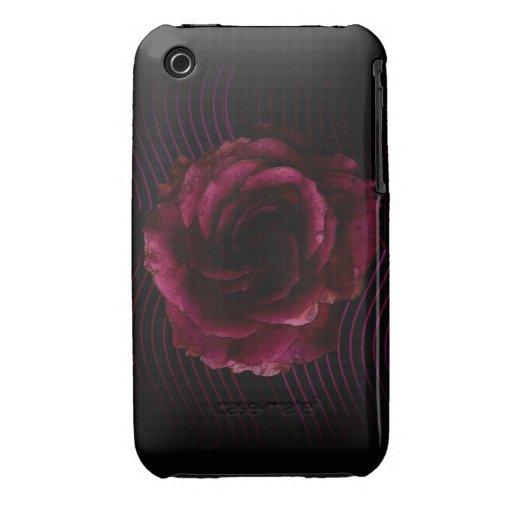 Dark Rose iPhone 3 Cases