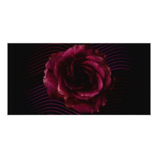 Dark Rose Personalised Photo Card