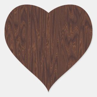 Dark Rosewood Heart Sticker