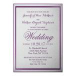 Dark Royal Purple Outline on Grey Gradient 13 Cm X 18 Cm Invitation Card