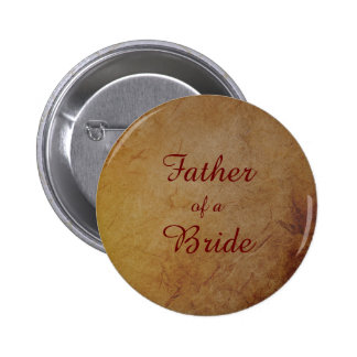 Dark Rustic Vintage Texture Lesbian Bride Father 6 Cm Round Badge