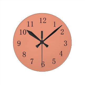 Dark Salmon Round (Medium) Wall Clock