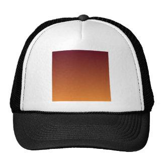 Dark Scarlet to Cadmium Orange Horizontal Gradient Trucker Hat