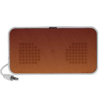 Dark Scarlet to Cadmium Orange Horizontal Gradient Travelling Speaker