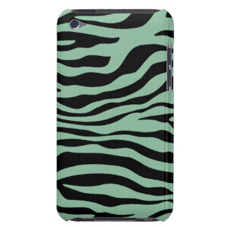 Dark Sea Green Zebra Stripes Animal Print iPod Case-Mate Cases