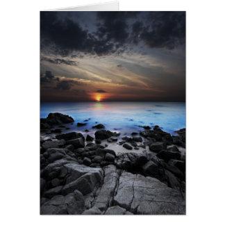 Dark Seaview Greeting Card