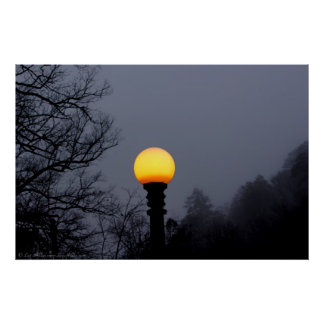 Dark Shadows Fog Gothic Street Lamp Poster