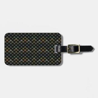 Dark Shiny Snakeskin Texture Design Luggage Tag