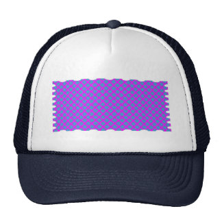 Dark Shirts : SPARKLE  Purple Blue Diamond Shapes Trucker Hats