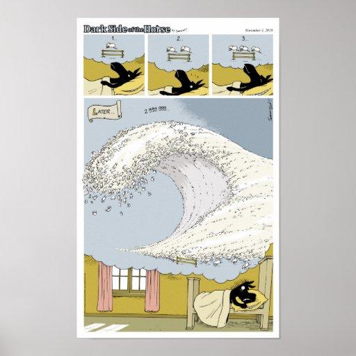"Dark Side of the Horse ""Ts-ewe-nami"" Poster"
