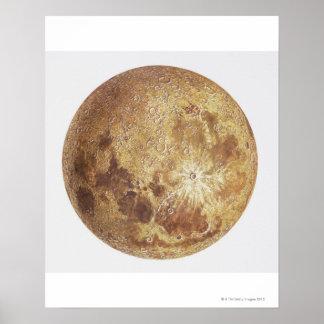 Dark side of the moon, illustration poster