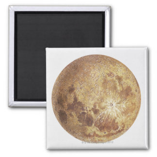 Dark side of the moon, illustration square magnet