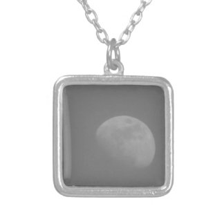 Dark Side of the Moon Square Pendant Necklace