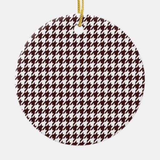 Dark Sienna Houndstooth Ornament