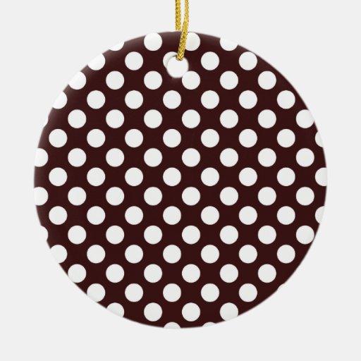 Dark Sienna Polka Dots Ornaments