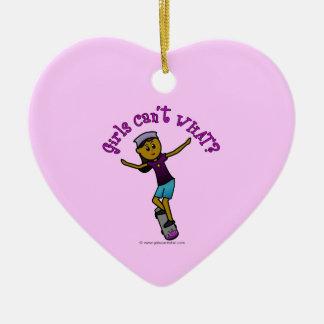 Dark Skateboarder Ceramic Heart Decoration