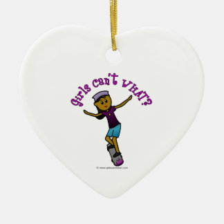 Dark Skateboarder Ceramic Heart Decoration