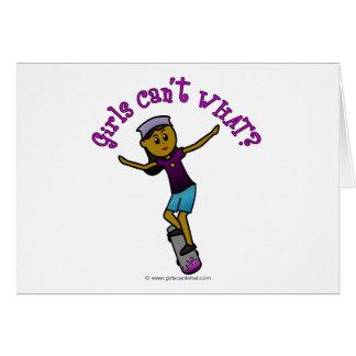 Dark Skateboarder Greeting Card