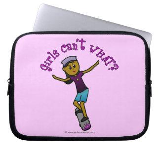 Dark Skater Girl Laptop Computer Sleeves