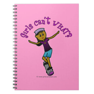 Dark Skater Girl Note Books