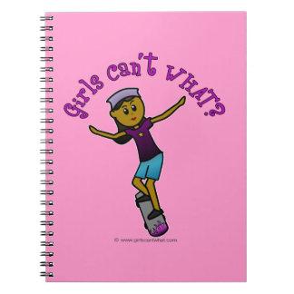 Dark Skater Girl Note Books