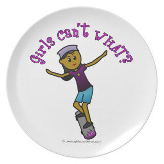 Dark Skater Girl Plate