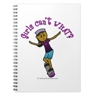Dark Skater Girl Spiral Note Books