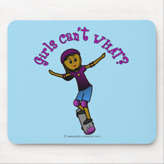 Dark Skater with Helmet Mouse Pad