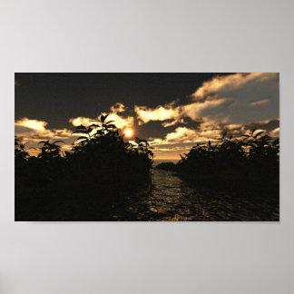 Dark Skies Sunset Poster