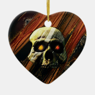 Dark Skull Christmas Ornament