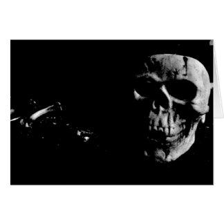 Dark Skull Greeting Card