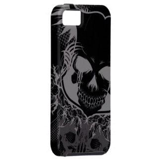 dark skull head abstract iPhone 5 cases