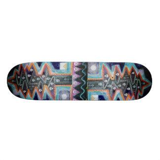 Dark Skull Tree Skate Board