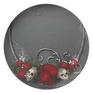Dark Skulls Dinner Plates