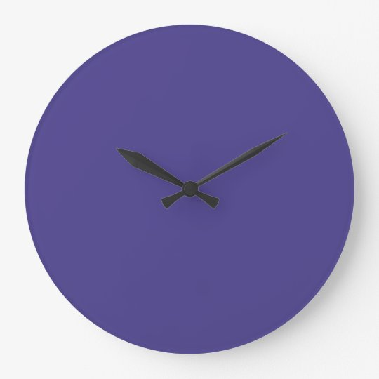 Dark Slate Blue Contemporary Colour Matching Large Clock