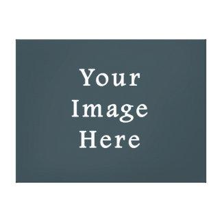 Dark Slate Blue Gray Color Grey Trend Template Gallery Wrap Canvas