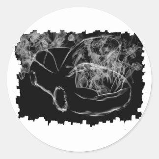 Dark Smoking Car Artwork Sticker