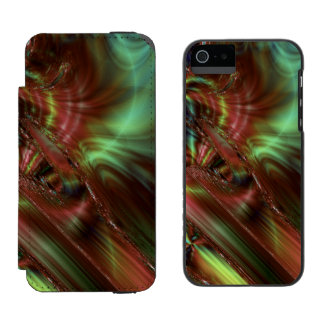Dark Smudge Fractal Incipio Watson™ iPhone 5 Wallet Case
